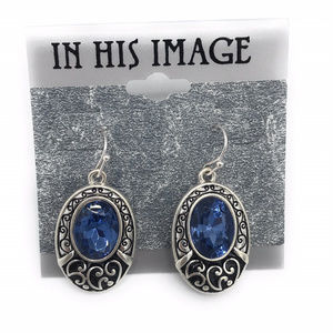 In His Image Blue Fashion Earrings (Case 2) 0076